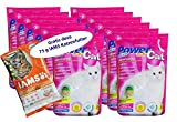 12 x 5 l = 60 L Power Cat Magic Silikat Katzenstreu Powercat - Gratis dazu 75 g IAMS Adult 1-6 Katzenfutter ...