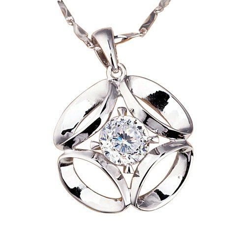 Tungsten Love Fashion Charm 925 Sterling Silver Pendant With Cubic Zirconia