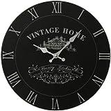 Premier Housewares Vintage Home Wall Clock - Black