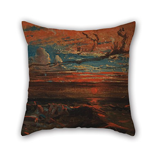 alphadecor-oil-painting-francis-danby-sunset-at-sea-after-a-storm-throw-pillow-case-18-x-18-inches-4