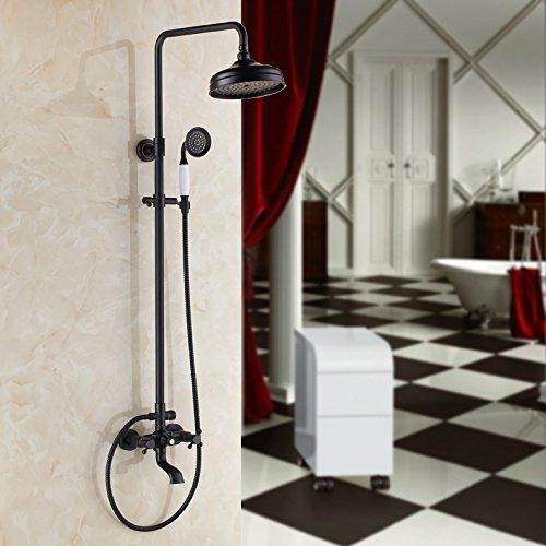 CAC American retrò nero europeo sollevamento bronzo doccia a mano in puro rame rubinetto doccia