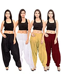 SPK Impact Womens BLACK-WHITE-BEIGE-MAROON Cotton Patiala Salwar