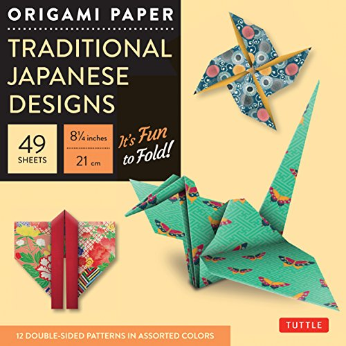 Origami Paper Traditional Japanese Designs (Large 8 1/4