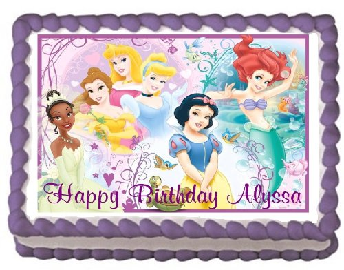 Disney Princess Birthday Party Edible Image Cake Toppers ...