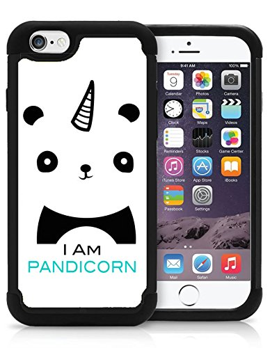 Iam Pandicorn Cute Panda Hipster Love Animal Cool Funny iPhone 5 iPhone 5S Case Cover Protective HYBRID Bumper Case with Drop Protection Dual Layer (Cool Animal Iphone 5 Cases compare prices)