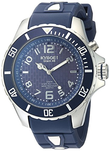 Kyboe. Hombre Reloj analógico cuarzo silicona azul KY de 48-037