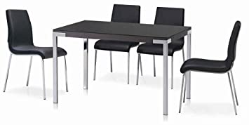 Cafe 5 Piece Dining Set Finish: Black