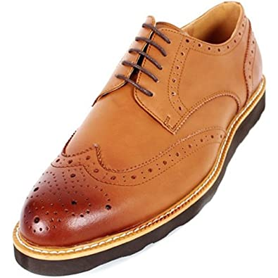 new mooda leather wing tip casual oxford dress mens