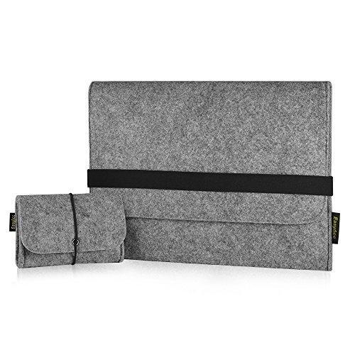 EasyAcc-Macbook-Pro-133-Zoll-Filz-Sleeve-Hlle-Ultrabook-Laptop-Tasche-fr-Apple-Macbook-Pro-und-vieles-mehr-Grau-Dimension-340-x-250-x-8-mm