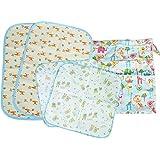 MyKazoe Baby Essentials Gift Set, Waterproof Wet Bag 2 Waterproof Lap Pads 2 Muslin Wipe Cloth - Set Of 5 (Neutral...