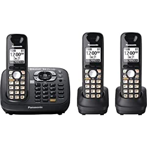 Panasonic KX-TG6583T DECT 6.0 PLUS Link-to-Cell Bluetooth Cordless Phone Solution with 3 Handsets