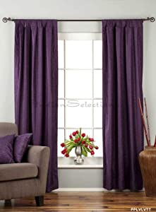 Purple Tab Top Velvet Curtain Drape Panel 43w X 84l Piece Home Kitchen