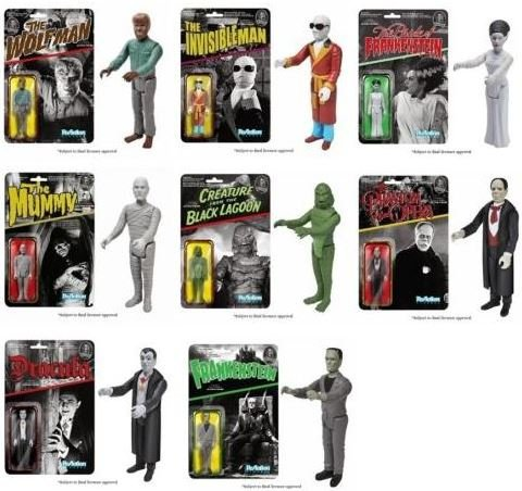 Universal Monsters (Set of 8) Funko ReAction 3 3/4-Inch Retro Action Figures Super7