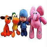 Complete Set of 4 Plush: Pocoyo, Pato, Elly, Loula