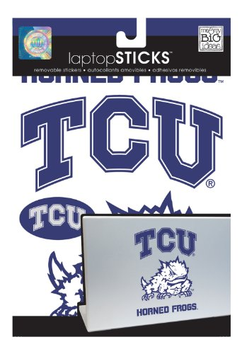 me & my BIG ideas laptopSTICKS Removable Laptop Stickers, Texas Christian (TCU) Horned Frogs