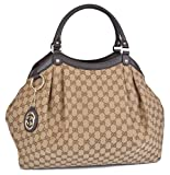 Gucci Women's Large Brown Canvas GG Guccissima Sukey Hobo Handbag