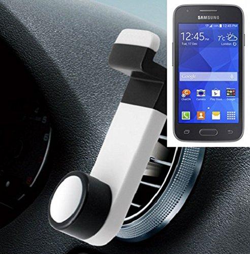 Universell einsetzbare Smartphone Halterung / Autohalterung / Lüftungshalterung für das Samsung Galaxy Ace 4 LTE. Weiß. Handy Halter für das Lüftungsgitter verwendbar mit Smartphones und Tablets von 5,2 cm - 9,4 cm Breite. Smartphonehalterung Handyhalterung Autohalterung Lüftung Lüftungsgitter Air Vent mount Halterung Lüftungsschlitz, Versand aus Deutschland innerhalb eines Werktages