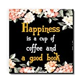 Seven Rays Happiness Is Coffee And A Good Book Fridge Magnet