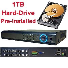 DNT 8 8ch Channel H 264 Standalone Cameras Surveillance Cctv Dvr