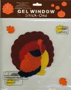 Thanksgiving Turkey Gel Window Clings by Nantucket Home