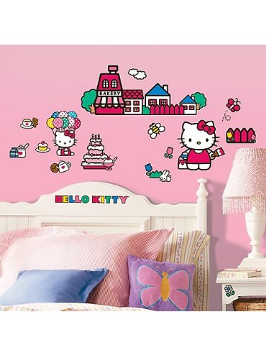 Hello Kitty Wall Decal Decoration (Each) front-1029494