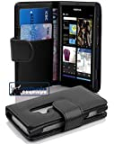 Nokia Lumia 800 case , CADORABO Lumia 800 Case Wallet [BLACK] Premium PU leather Wallet Case Flip Cover for Lumia 800- BLACK [Lifetime Warranty]