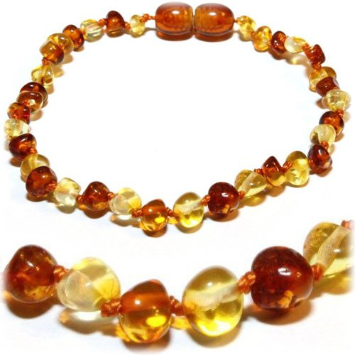 The Art Of Curetm Baltic Amber Baby Teething 1X1 Bracelet - Certified Baltic Amber Baby Teething Bracelet Highest Quality Guaranteed- Anti Inflammatory, Drooling & Teething Pain. Easy To Fastens With A Twist-In Screw Clasp Mothers Approved Remedies!