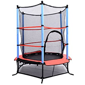 Buy Aosom 55 Kids Jumping Trampoline & Enclosure Set by Aosom