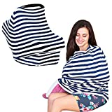 Baby Nursing Privacy Cover for Breastfeeding - Car Seat Canopy - Multi-Use Stretchy Baby Shower Gift for Boys and Girls - Infinity Scarf for Mom - Shopping Cart and High Chair Covers by KiddyStar