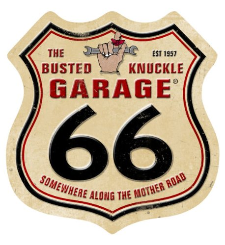 Busted Knuckle Garage BUST133 'Route 66' Metal Sign (Busted Knuckle Garage Clock compare prices)