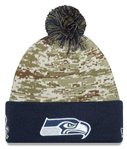 Seattle Seahawks Salute To Service Sport Hat Knit Beanie Jersey Sweatshirt Hoodie T-Shirt Flag Apparel (Seahawks Salute To Service Hat compare prices)