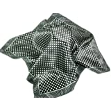 Satin neck scarf with Polka Dot Pattern - 50cm square. In Various Colours