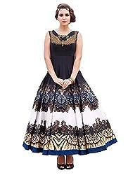Meet Enterprise New Black & White Banglori Silk Designer Gown