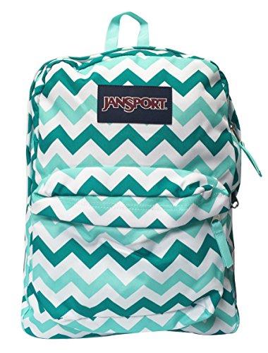 de34c87e65d8 Classic Jansport Superbreak Backpack (Aqua Dash Zou (T5010C6))