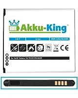 Akku-King Batterie pour Samsung Galaxy S4, i9500, LTE i9505 - Li-Ion remplace EB-B600, B600BE, B600BU - 2800mAh