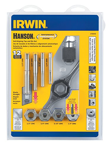 Hanson 1765542 1/4-20 - 1/2-13 Pts SAE Set for Tap Die Extraction, 12 Piece (Irwin Sae Tap And Die Set compare prices)