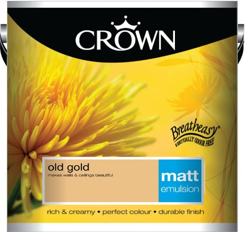 Crown Matt 2.5L Emulsion - Old Gold