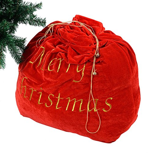 Christmas Decoration 35'' Santa Claus Gift Bag Candy Party Cookie Bags w/Belt (Giant Candy Jars compare prices)