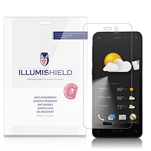 Illumishield - Amazon Fire Phone Screen Protector Japanese Ultra Clear Hd Film With Anti-Bubble And Anti-Fingerprint - High Quality (Invisible) Lcd Shield - Lifetime Replacement Warranty - [3-Pack] Oem / Retail Packaging
