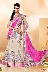 Bridetouch Womens Silk & Georgette Lehenga Choli (Pink-8603 _Light Pink _10-11 Years)