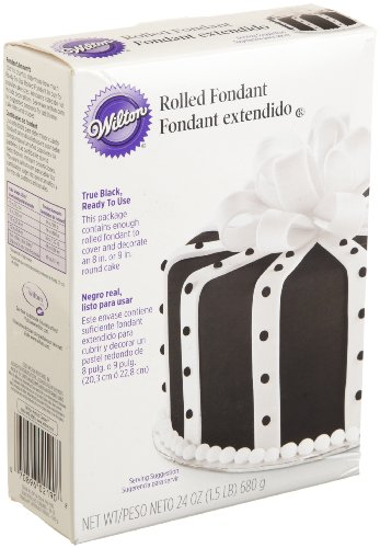 Wilton Ready-to-Use True Black Rolled Fondant, 24-Ounce at Amazon.com