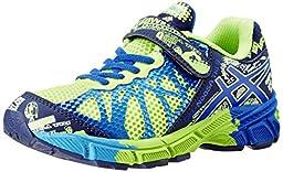 Asics Gel-Noosa TRI 9 PS Running Shoe (Toddler/Little Kid),Flash Yellow/Royal/Navy,1.5 M US Little Kid
