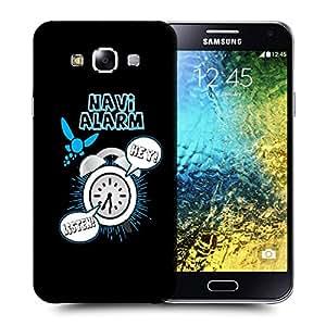 Snoogg Navi Alarm Designer Protective Back Case Cover For SAMSUNG GALAXY E5