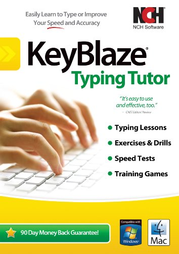 KeyBlaze Typing Tutor Software to Learn to Type with Lessons, Exercises or Games [Download] (Beginner Typing compare prices)