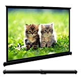 FastFox Mini Table Screen Outdoor Business Portable Movie Screens 50 Inch 4:3 Home Cinema Projector Screen with PVC Fabric Matte White