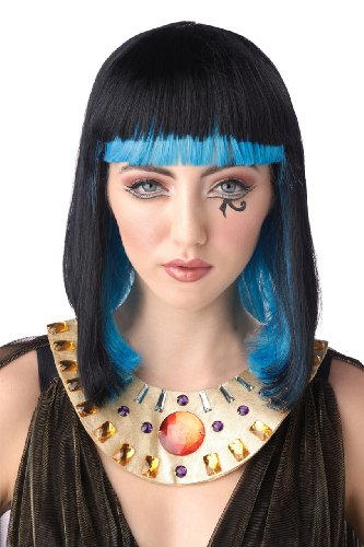 California Costumes Women's Egyptian Sapphire Wig, Black/Blue, One Size - 1