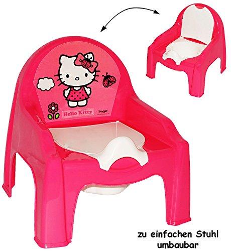 2-in-1-Nachttopf-Kinderstuhl--Tpfchen-Nachttopf-Hello-Kitty-mit-groer-Lehne-Spritzschutz-WC-Stuhl-Plastik-Sitz-Babytpfchen-Kindertopf-Lerntpfchen-Toilettentrainer-Klositz-Toilettensitz-Babytopf-Rckenl