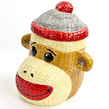 Sock Monkey Cookie Jar
