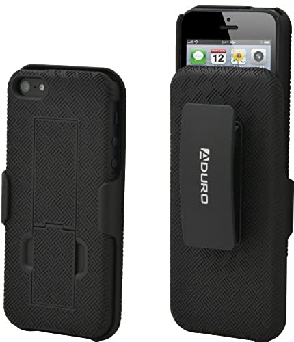 09. Aduro Shell Holster Combo Case for Apple iPhone SE / 5 / 5S with Kick-Stand & Belt Clip (At&t, Verizon, T-Mobile & Sprint)