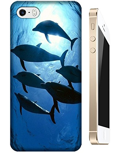 Group dolphins swimming under the sea sunshine cell phone cases for Apple Accessories iPhone 4/4S